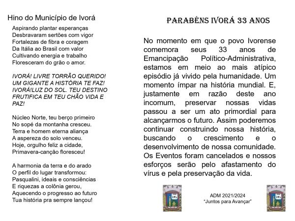PARABÉNS NOSSA IVORÁ!!!