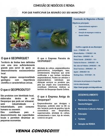 REUNIÃO SOBRE O GEOPARQUE EM NOSSO MUNICÍPIO OCORRERÁ EM 17/06