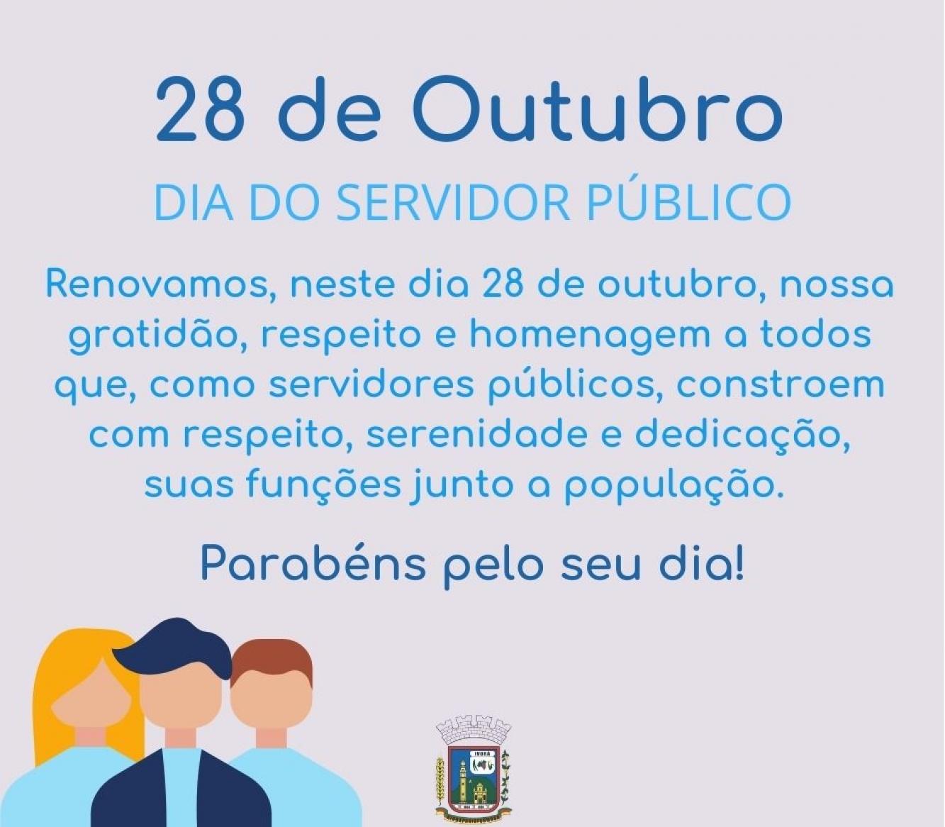Parabéns servidor público!
