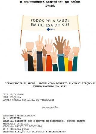 X Conferência Municipal de Saúde