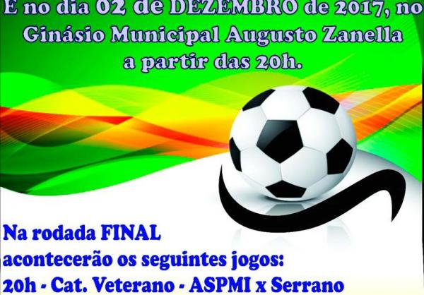 Final do Campeonato Municipal de Futsal 2017