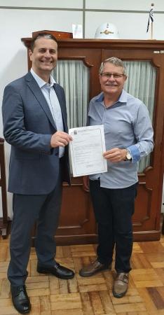 Binotto se reúne com secretário Adjunto de Segurança Pública do Estado