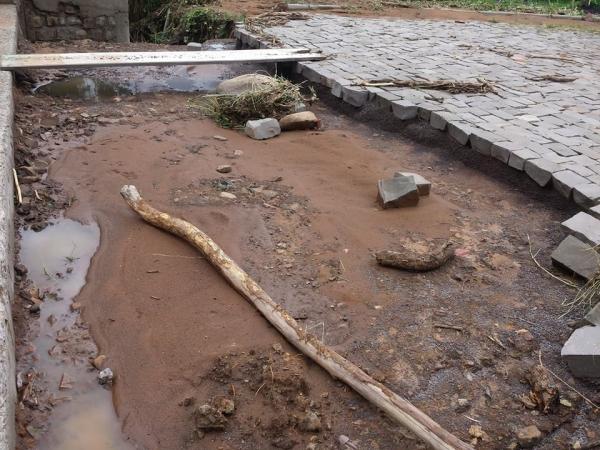 Município De Ivorá é atingido por Forte Chuva